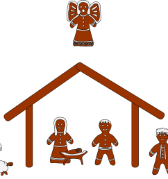 free nativity clipart silhouette clipart [ 2400 x 1717 Pixel ]