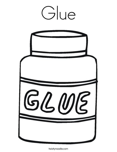 Glue clipart colouring, Glue colouring Transparent FREE