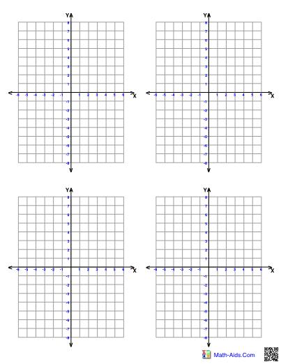 Graph clipart 4 quadrant numbered, Graph 4 quadrant