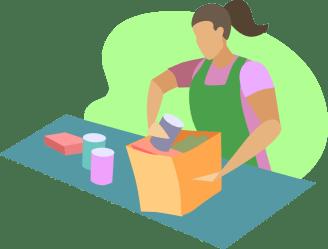 clipart checkout supermarket clerk transparent groceries grocery webstockreview packs