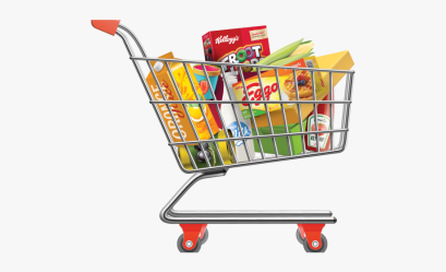 clipart grocery trolley cart bag shopping transparent webstockreview