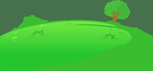 clipart hill animated cartoon transparent grass webstockreview carrom light