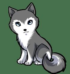 clipart wolf kawaii husky drawing transparent webstockreview mb