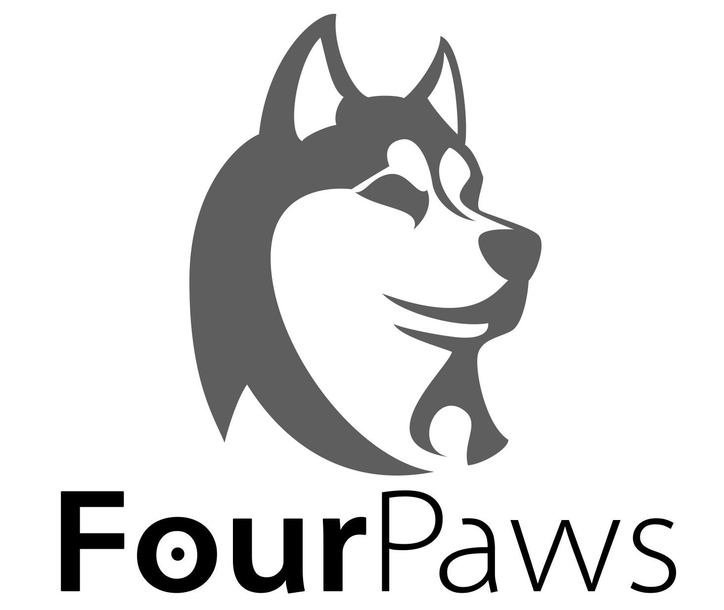 hight resolution of four paws walking adopts closed by deadonarrival husky clipart sled dog