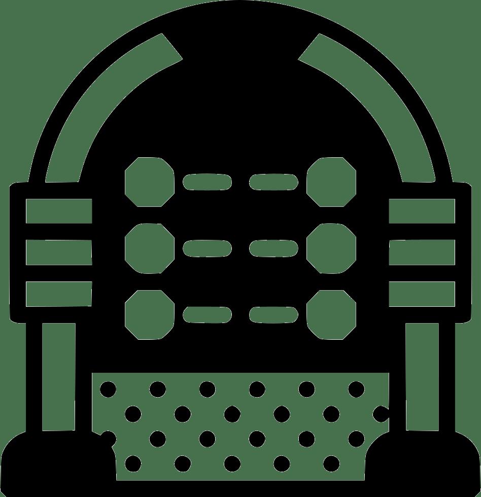 medium resolution of jukebox clipart vector