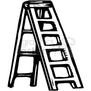 Ladder clipart black and white, Ladder black and white