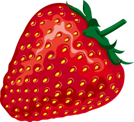 strawberry clipart watermelon lemon strawberries fruit transparent shapes webstockreview clipground lime elements cliparts