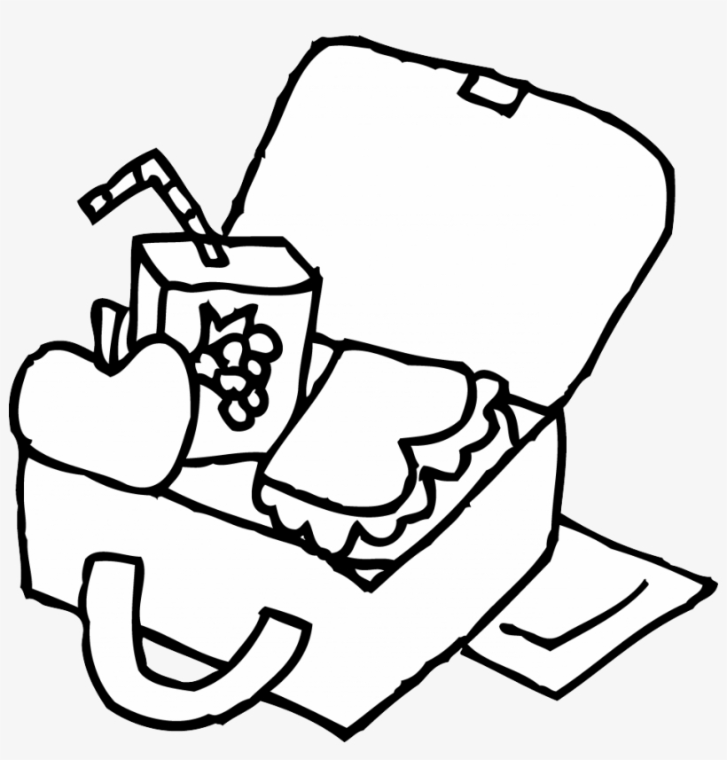 Lunchbox clipart outline, Lunchbox outline Transparent