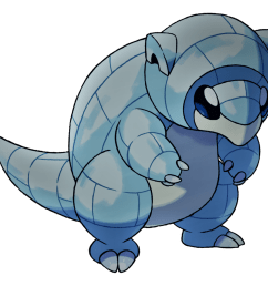 alolan sandshrew ice and steel type by manatee clipart sketch  [ 894 x 894 Pixel ]
