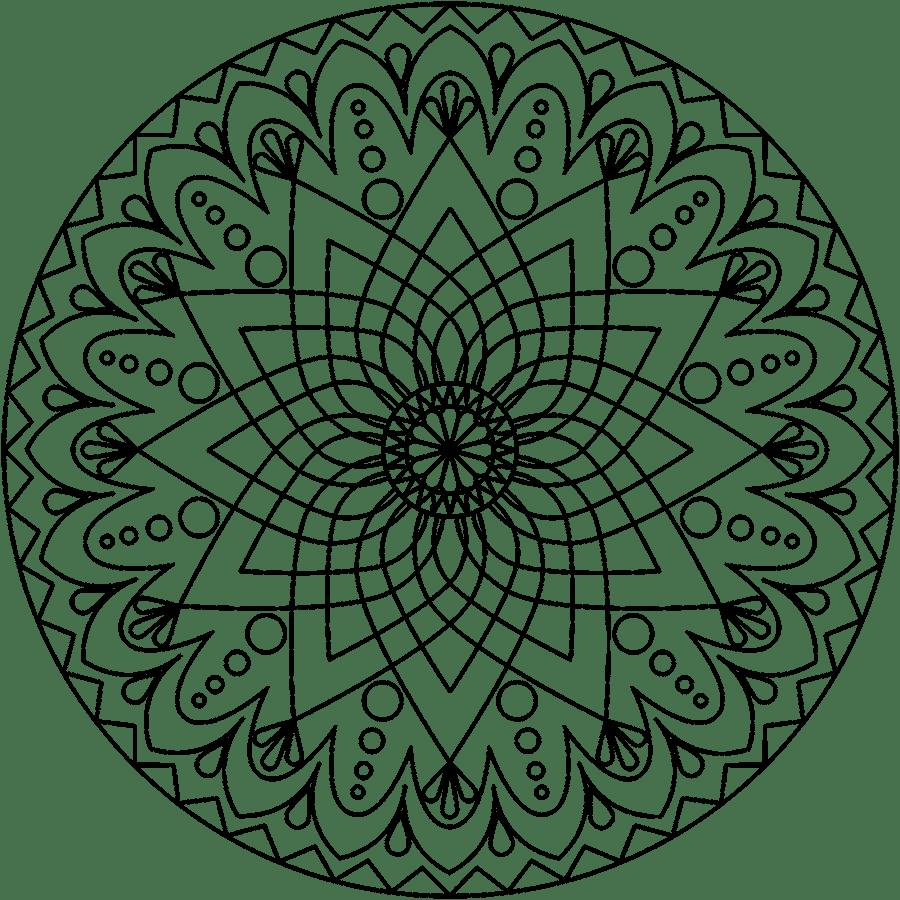 Mandala clipart basic simple, Mandala basic simple