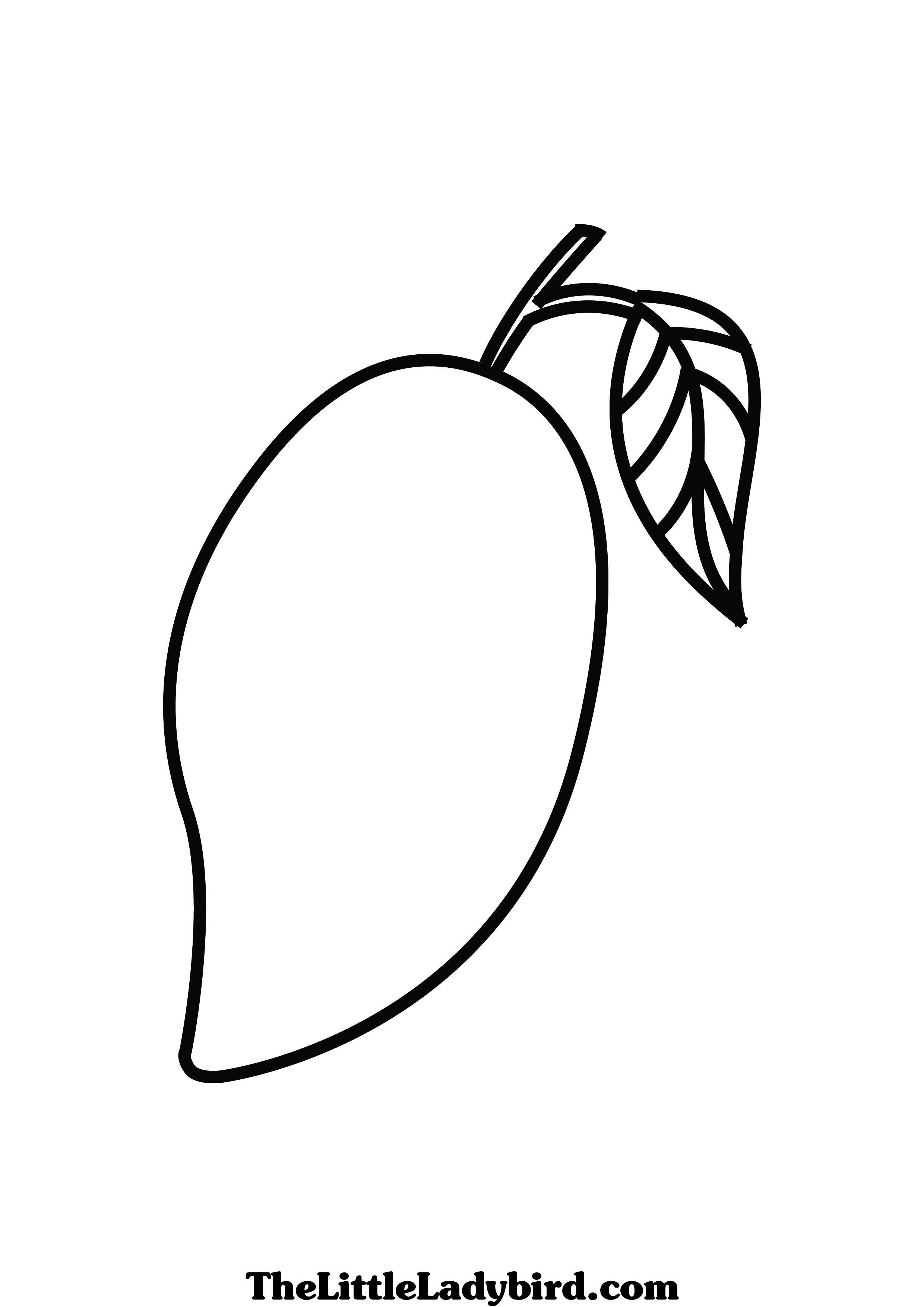 Mango Clipart Colouring Page Mango Colouring Page