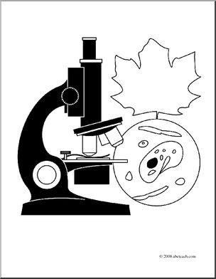 Microscope clipart biology cover page, Microscope biology