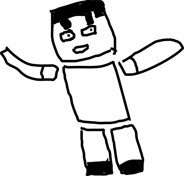 Minecraft clipart black and white, Minecraft black and