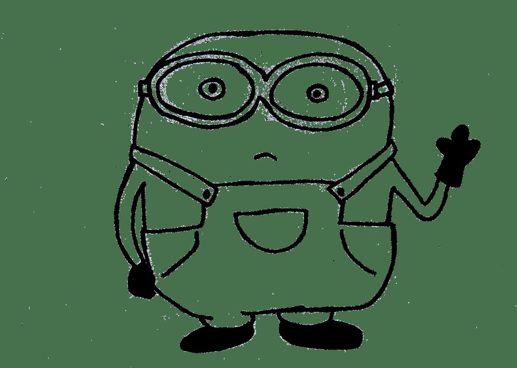 Minions clipart outline, Minions outline Transparent FREE
