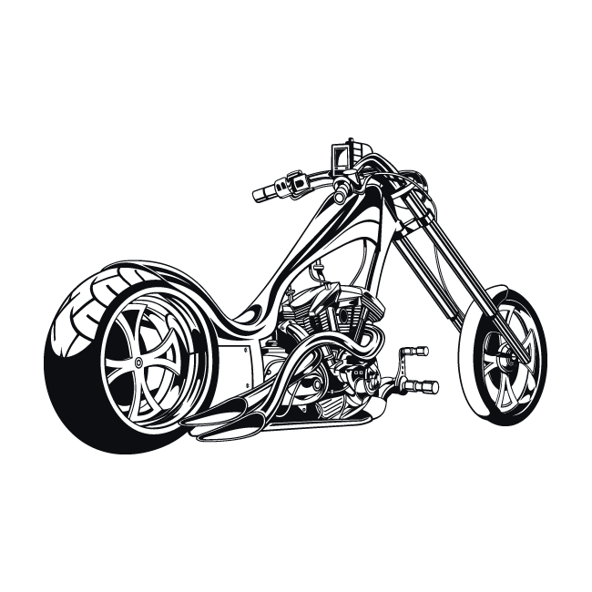 Motorcycle clipart bagger, Motorcycle bagger Transparent