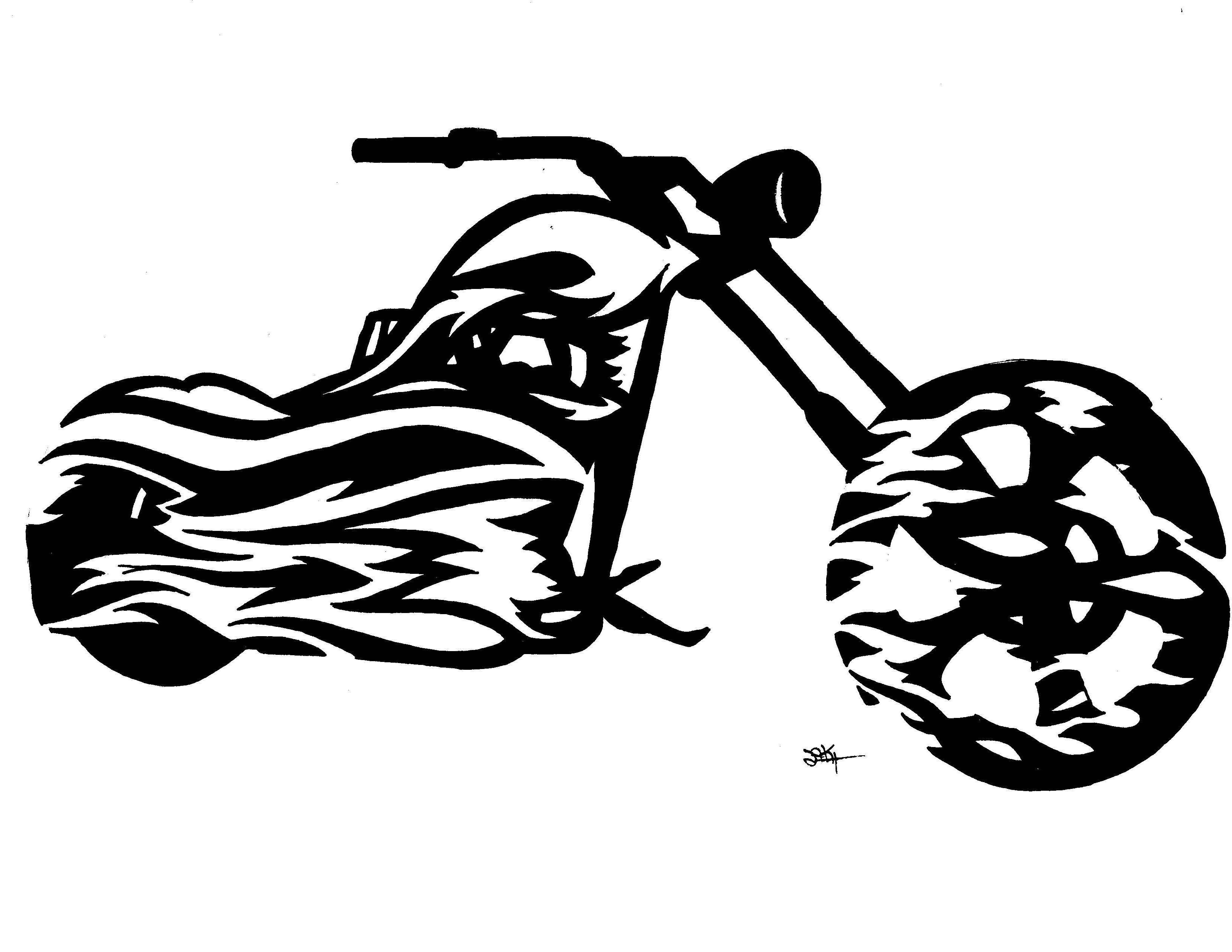 Motorcycle clipart tribal, Motorcycle tribal Transparent