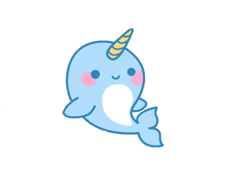 narwhal clipart kawaii unicorn transparent cute whale webstockreview sticker freetoedit