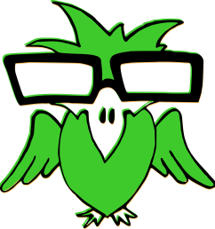 nerd clipart smart glass bird green glasses transparent [ 1218 x 1280 Pixel ]