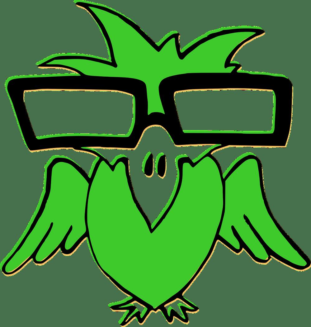 medium resolution of nerd clipart smart glass bird green glasses transparent
