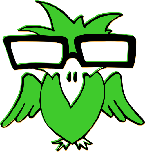 small resolution of nerd clipart smart glass bird green glasses transparent
