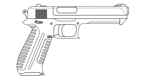 drawing gun pistol easy clipart transparent scope