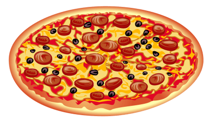 clipart food italian pizza transparent meal pepperoni party webstockreview funeral