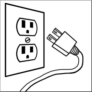 Electricity clipart black and white, Electricity black and