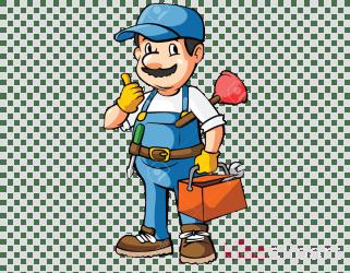 plumbing plumber cartoon clipart transparent child clip illustration handyman worker pipeline webstockreview cliparts