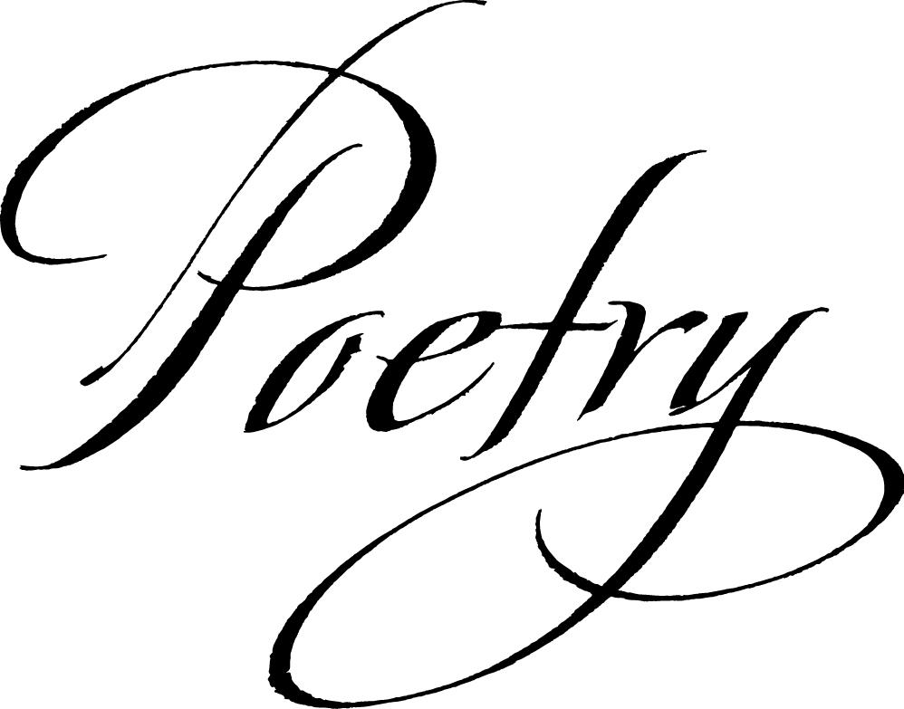 Poetry clipart cursive, Poetry cursive Transparent FREE