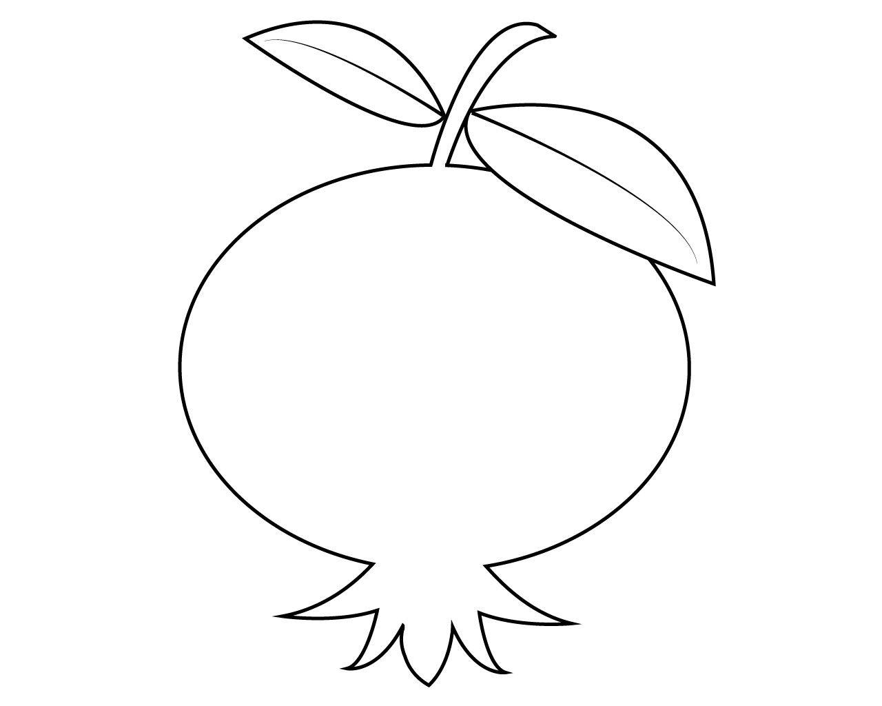 Pomegranate Clipart Printable Pomegranate Printable
