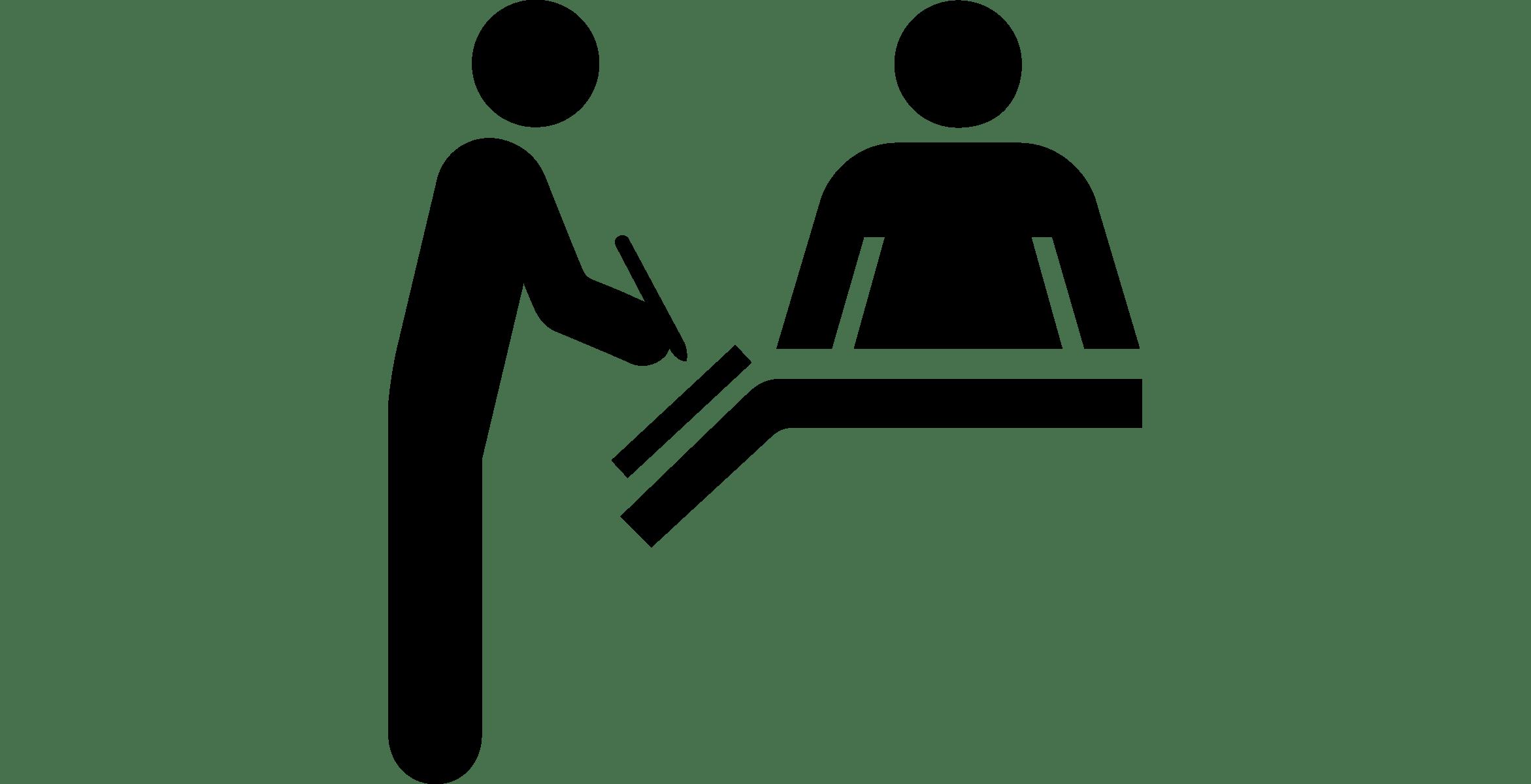 Receptionist clipart patient registration, Receptionist