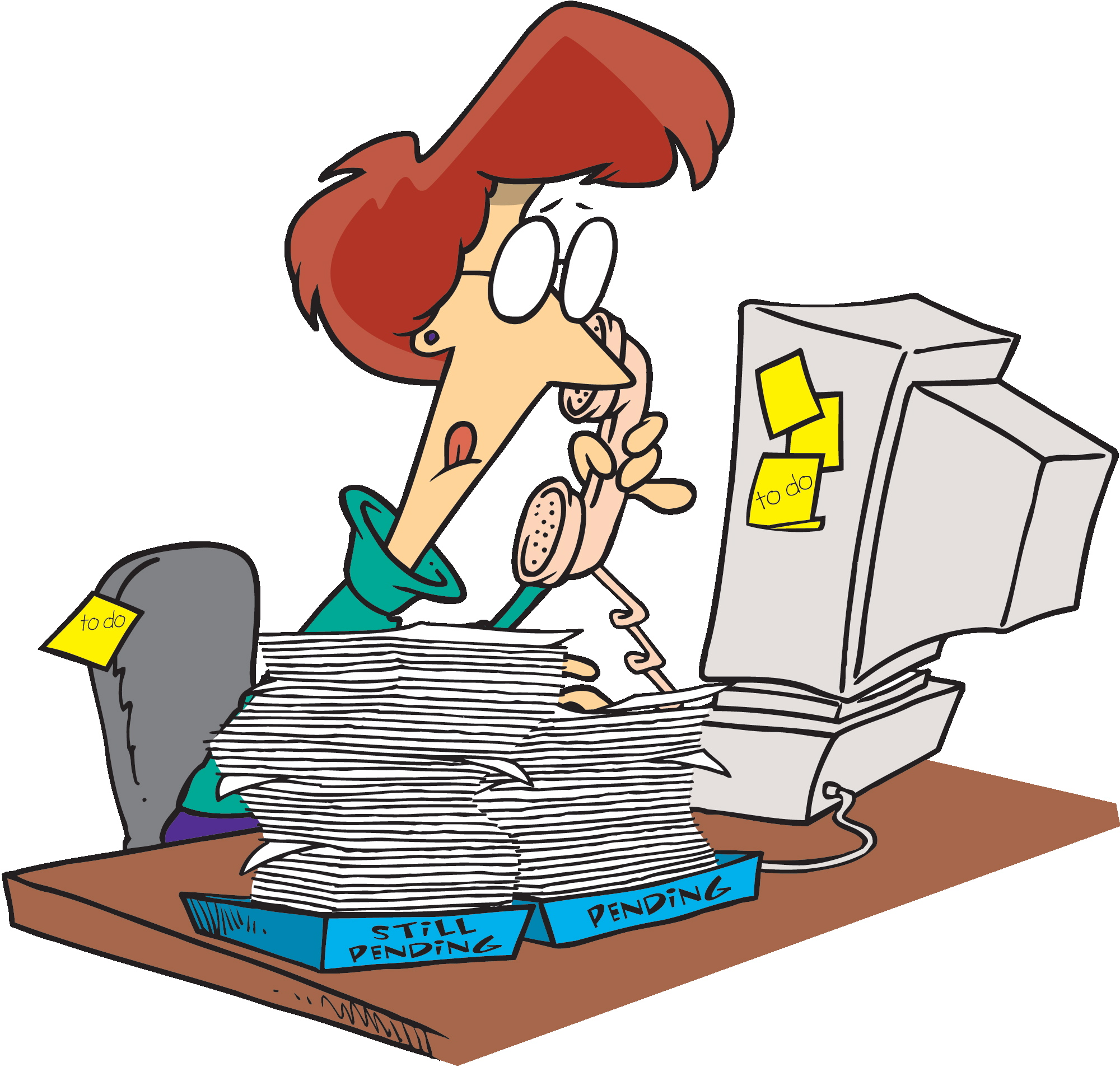 Receptionist Clipart Busy Teacher Receptionist Busy