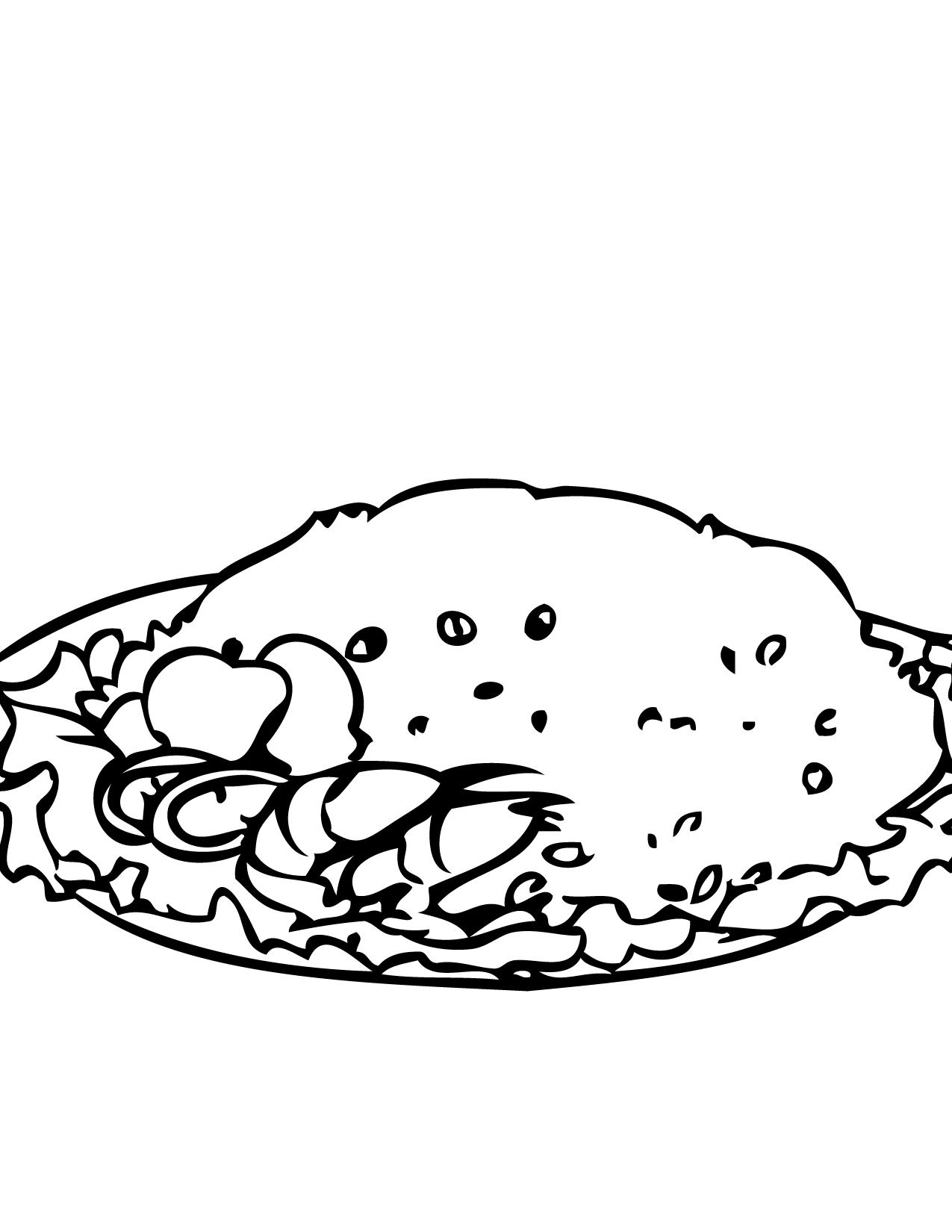 Rice clipart coloring page, Rice coloring page Transparent