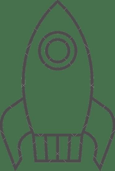 Rocketship clipart outline, Rocketship outline Transparent