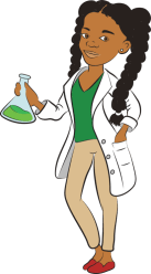 scientist clipart female woman cartoon science boy transparent african clip scientists comic under young teacher afro chapter education soweto supreme