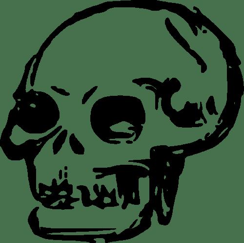 small resolution of skeleton clipart happy skull clip art