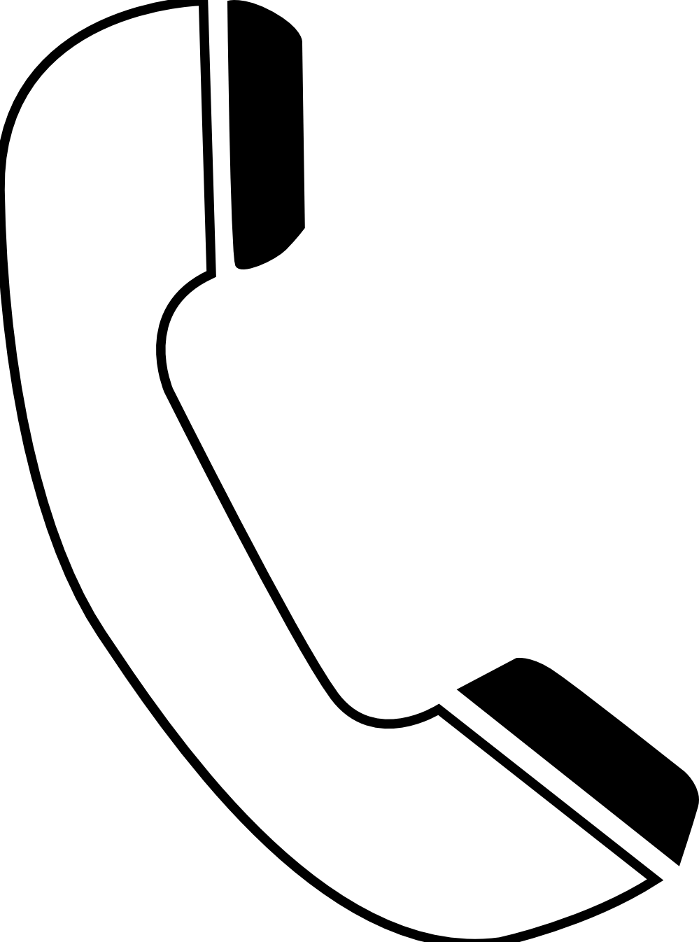 Telephone clipart black and white, Telephone black and