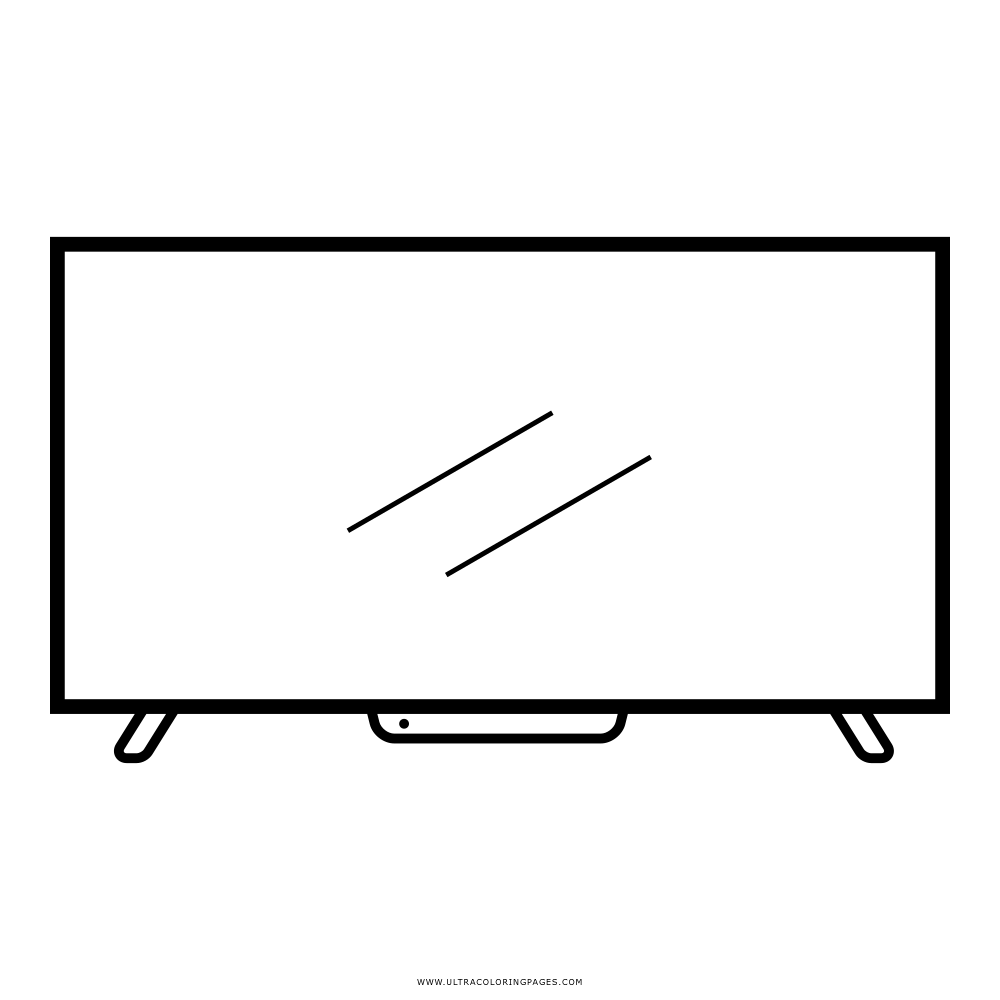 Television clipart coloring, Television coloring