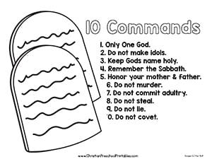 Ten commandments clipart simple, Ten commandments simple