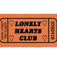 lonelyheartsclub lonely lonleyhearts aesthetic ticket clipart airline  [ 1024 x 819 Pixel ]