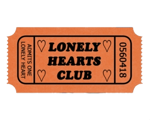 small resolution of lonelyheartsclub lonely lonleyhearts aesthetic ticket clipart airline
