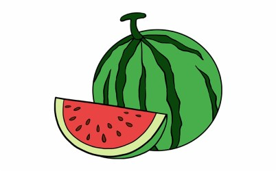 watermelon clipart easy slice clip draw drawing webstockreview total october library