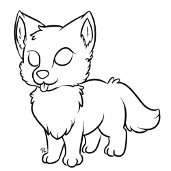 wolf pup lineart drawing wolves easy clipart transparent base uluri gray deviantart step wolfpup getdrawings explore running