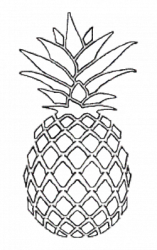 Stencil Pineapple Outline