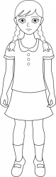 Girl clipart outline Picture #1213133 girl clipart outline