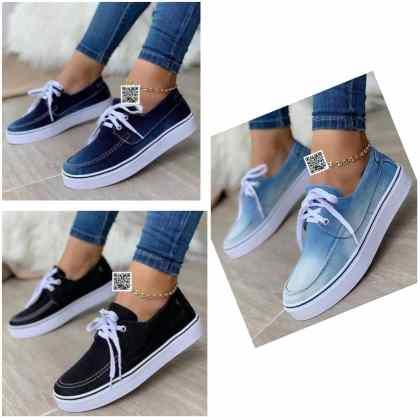 Latest Female Jean Sneakers