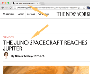Page title on The New Yorker