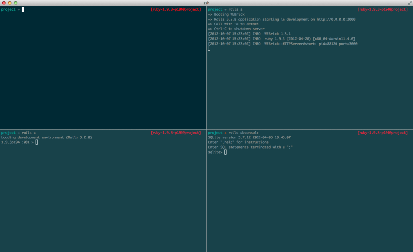 A preview of the terminal setup