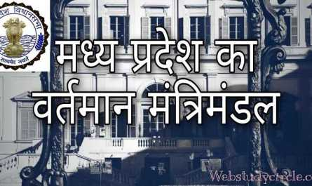 Current cabinet of Madhya Pradesh