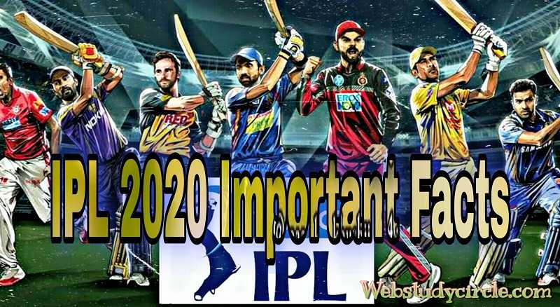 IPL 2020 Important Facts